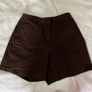Vintage Brown High-Waist Shorts